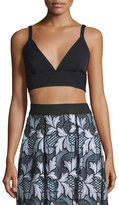 Self-Portrait Crepe Bralette Top, Black