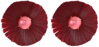 Kate Spade Posh Poppy Studs Earrings (Burgundy) Earring