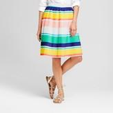 Merona Women's Stripe Pleated Skirt