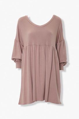 Forever 21 Shirred Shift Mini Dress