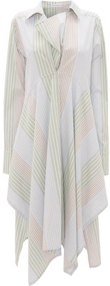 J.W.Anderson Stripe-Pattern Asymmetric Shirtdress
