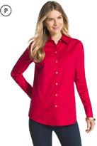 Chico's Effortless Embossed Eryn Red Shirt
