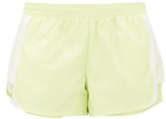 adidas by Stella McCartney Side-stripe Technical Shorts - Womens - Green White