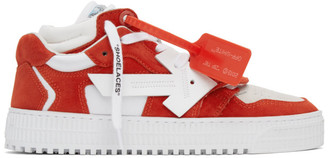 Off-White Red and White Off-Court 3.0 Sneakers