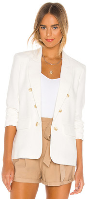 1 STATE Ruched Sleeve Crepe Blazer