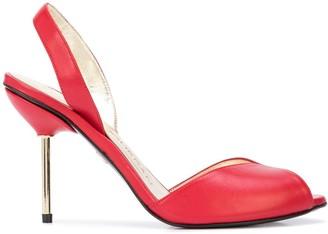 Charles Jourdan 60mm Metallic Heel Sandals