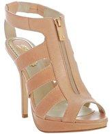 Velvet Angels natural leather 'Mondrian' zip cut-out sandals