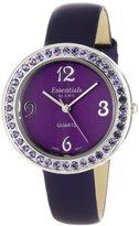 ABS by Allen Schwartz Essential by Women's 40083 Austrian Crystals Leather Strap Watch