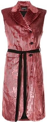 Ann Demeulemeester striped velvet long gilet