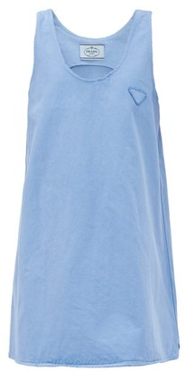 Prada A-line Denim Mini Dress - Light Blue