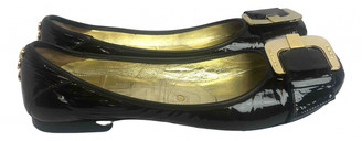 Gianmarco Lorenzi Black Patent leather Ballet flats