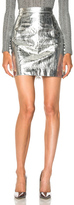 Proenza Schouler Lightweight Metallic Leather Mini Skirt in Metallics.