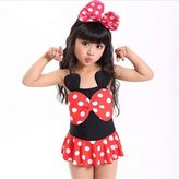 ZYZF Toddler Baby Girls Kid Swimsuit Bikini Skirts Tankini Polka Dots Swimwear