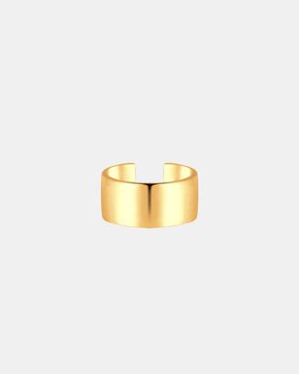 Elli Jewelry Earrings Ear Cuff Basic 925 Sterling Silver Gold Plated