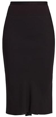 Rick Owens Bodycon Midi Skirt