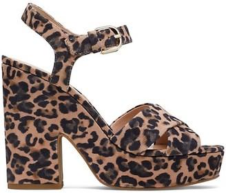 Kate Spade Grace Leopard-Print Suede Platform Sandals