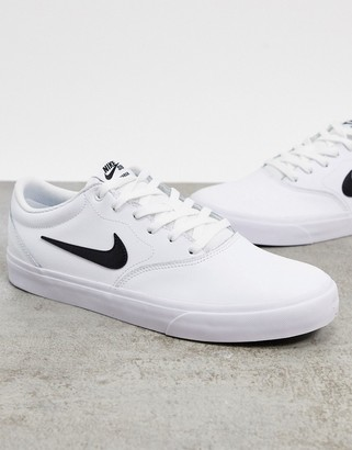 Nike SB Chron SLR leather trainers in white