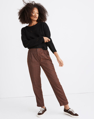 Madewell Plaid Flannel Track Trousers