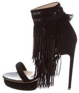 Nicholas Kirkwood Suede Fringe-Trimmed Sandals