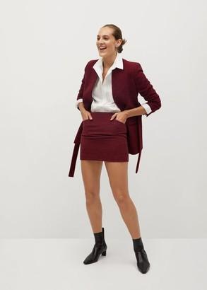 MANGO Houndstooth miniskirt