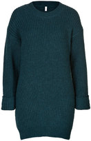 Faith Connexion Alpaca-Wool Ribbed Knit Pullover in Blue