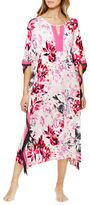 Ellen Tracy Floral Print Pullover Caftan Dress