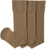 Joe Fresh Women's 3 Pack Knee Highs, Black (Size O/S)