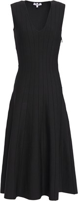 CASASOLA Flared Ribbed Stretch-knit Midi Dress