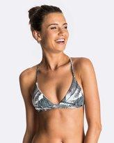 Roxy Womens Strappy Love Printed Rev Fixed Tri Separate Bikini Top