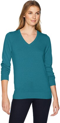 Amazon Essentials Women's Lightweight Long-Sleeve V-Neck Sweater