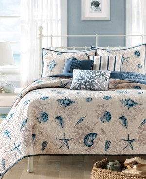 Madison Home USA Bayside 6-Pc. Quilted Full/Queen Coverlet Set