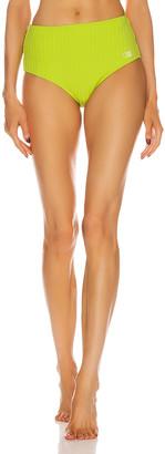 Solid & Striped Beverly Bikini Bottom in Chartreuse Rib | FWRD
