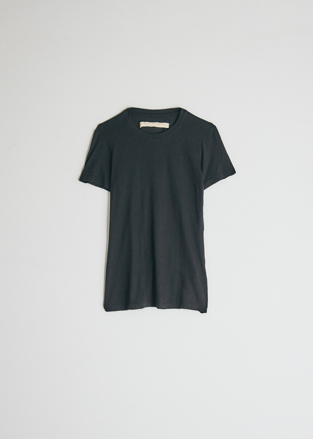 Raquel Allegra Women's Slim T-Shirt in Black, Size 2 | Cotton/Polyester