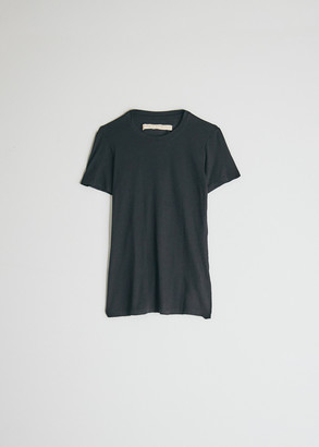 Raquel Allegra Women's Slim T-Shirt in Black, Size 0 | Cotton/Polyester