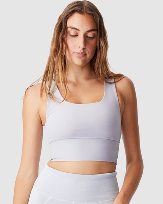 Cotton On Body Active - Women's Purple Crop Tops - Rib Scoop Neck Vestlette - Size XS at The Iconic