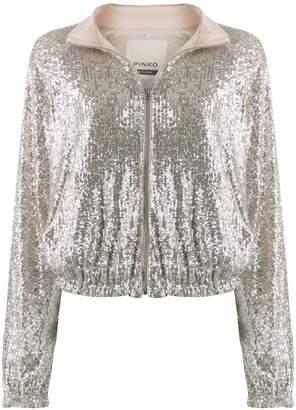 Pinko sequin-embellished bomber jacket