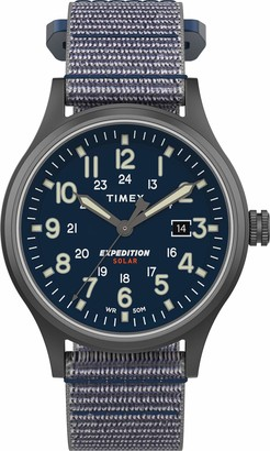 Timex Men's Expedition Scout Solar 40 mm Leather Watch TW4B18600