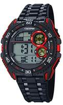 Calypso Men's Digital Watch with LCD Dial Digital Display and Black Plastic Strap K5670/5