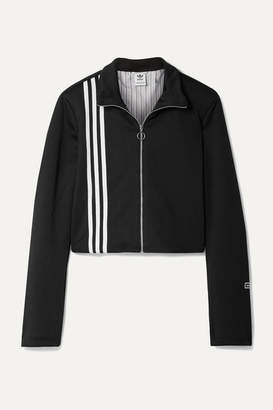 adidas Tlrd Striped Stretch-jersey Track Jacket - Black