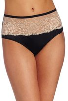 Bali Womens One Smooth U Comfort Indulgence Satin with Lace Hipster Panty, White, XX-Large/9