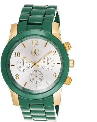 Xtreme Fortune NYC Boyfriend Gold Case / Green Matte Strap Watch