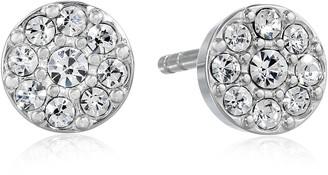 Fossil Crystal Stud Earrings