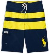 Ralph Lauren Boys' Big Pony Wide Stripe Board Shorts - Big Kid