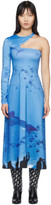 Saks Potts SSENSE Exclusive Blue Asymmetric Dress