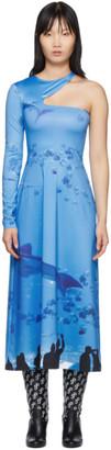 Saks Potts SSENSE Exclusive Blue Asymmetric Dress