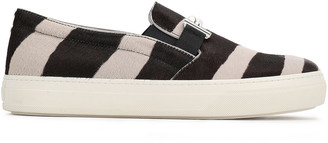 Tod's Grosgrain-trimmed Suede Slippers