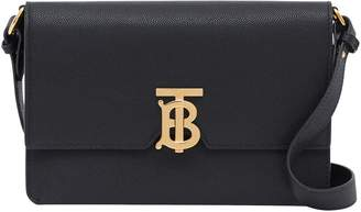 Burberry Small Leather Monogram Cross Body Bag