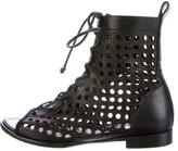 Proenza Schouler Laser Cut Leather Ankle Boots