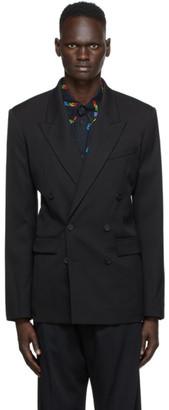 Balenciaga Black Wool Double-Breasted Blazer