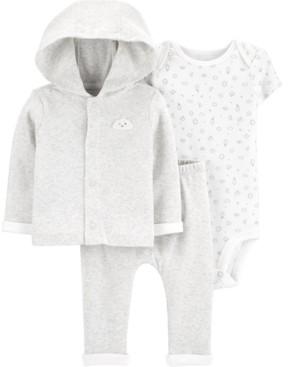 Carter's Baby Boys or Girls 3-Pc. Cotton Bodysuit, Cardigan & Pants Set